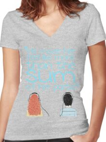 More Than The Sum Women's Fitted V-Neck T-Shirt