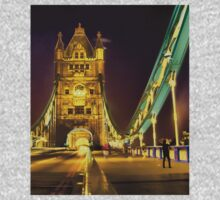 Tower Bridge at night  One Piece - Long Sleeve