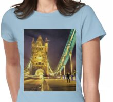 Tower Bridge at night  Womens Fitted T-Shirt