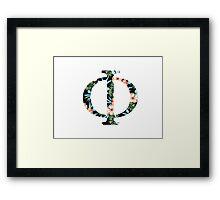 Phi Floral Greek Letter Framed Print