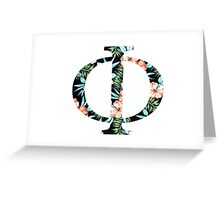 Phi Floral Greek Letter Greeting Card