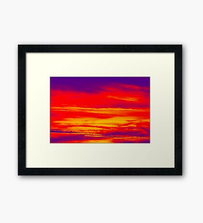 Psychedelic Sky Photo at Sunset Framed Print