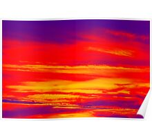 Psychedelic Sky Photo at Sunset Poster