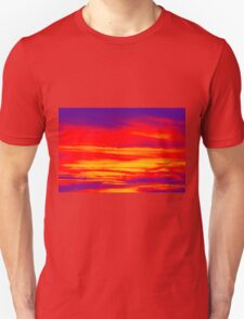 Psychedelic Sky Photo at Sunset Unisex T-Shirt