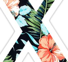 Chi Floral Greek Letter Sticker