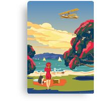 Walsh Brothers Flying Boat, Auckland 1915 Canvas Print