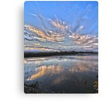 Sunset at White Rock Lake Canvas Print