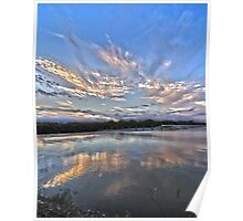 Sunset at White Rock Lake Poster