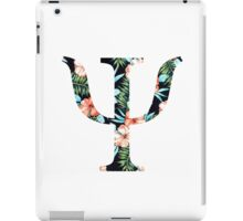Psi Floral Greek Letter iPad Case/Skin