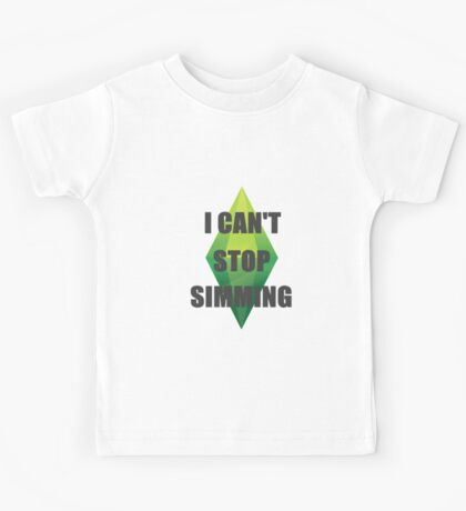 I Can't Stop Simming Kids Tee