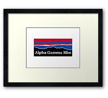 Alpha Gamma Rho RWB Framed Print