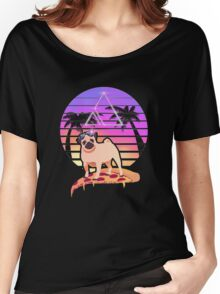 Pizza Pug Women's Relaxed Fit T-Shirt