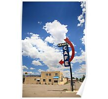 Route 66 - Grants Cafe Neon Poster