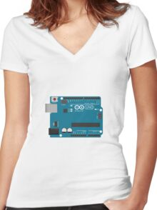 Arduino Uno Board Women's Fitted V-Neck T-Shirt