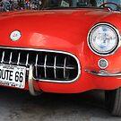 Route 66 Corvette by Frank Romeo