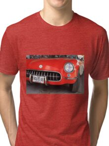 Route 66 Corvette Tri-blend T-Shirt