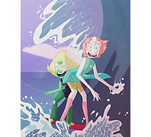 Pearl and Peridot Surfing Photographic Print