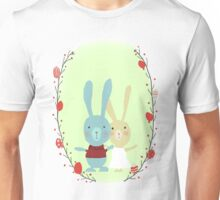 Springtime Easter Bunnies Unisex T-Shirt