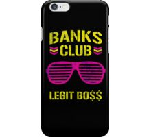 Sasha Banks Club Pink Yellow iPhone Case/Skin