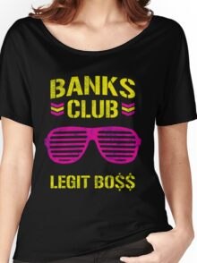 Sasha Banks Club Pink Yellow Women's Relaxed Fit T-Shirt