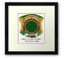 Hobbit Hole II Framed Print