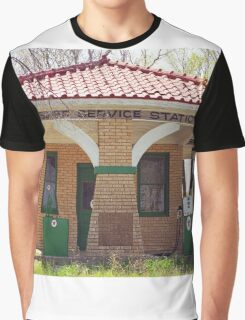 66 Super Gas Station Graphic T-Shirt