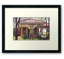 66 Super Gas Station Framed Print