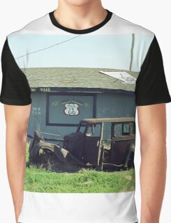 Route 66 Vintage Auto Graphic T-Shirt