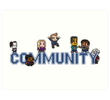 Community Logo with Characters Art Print