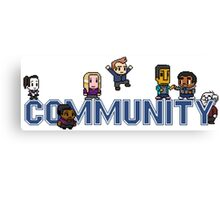 Community Logo with Characters Canvas Print