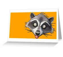 Gray Raccoon GTA Greeting Card