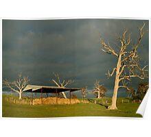 Joe Mortelliti Gallery - Sunrise storm clouds over the Rowsley valley, near Bacchus Marsh, Victoria, Australia. Poster