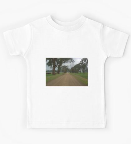 Lonely country road Kids Tee