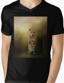 Brave Enough - Cheetah Art Mens V-Neck T-Shirt