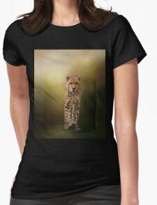 Brave Enough - Cheetah Art Womens Fitted T-Shirt