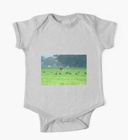 Cattle and swans One Piece - Short Sleeve