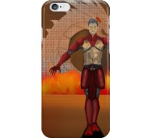 flame warrior (dicipline) one of four designs iPhone Case/Skin
