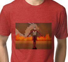 flame warrior (dicipline) one of four designs Tri-blend T-Shirt