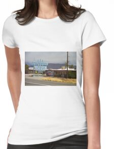 Route 66 - Frontier Motel Womens Fitted T-Shirt