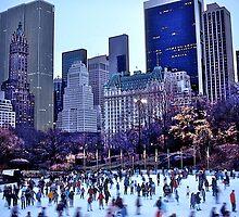 Ice Skaters, Central Park, New York, USA. by johnrf