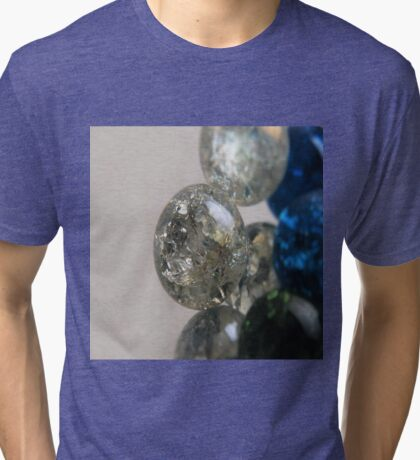 Cracked Marbles 3 Tri-blend T-Shirt