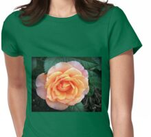 Orange Rose with Pink Tipped Petals Womens Fitted T-Shirt