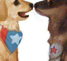 Cap & Bucky Sticker