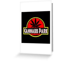 Cannabis park style jurasisic Greeting Card
