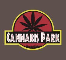 Cannabis park style jurasisic Baby Tee
