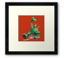 funny the good dinosaurus Framed Print