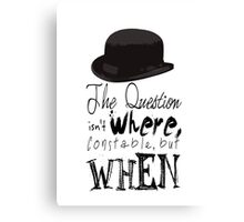 The question isn't where Constable, but when. Canvas Print