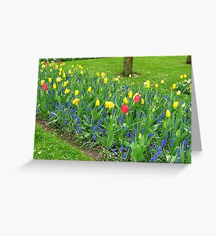 Dance of the Flowers - Keukenhof Gardens Greeting Card