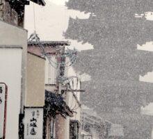 Kyoto In Snow Sticker