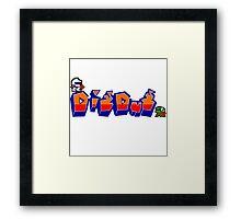 Dig-Dug Framed Print